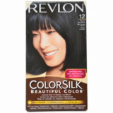Vopsea de par ColorSilk, 12 Blue Black, 100 ml, Revlon
