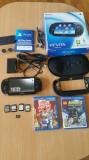 PS VITA , playstation vita , 16 gb , 6 jocuri ,incarcator , WI FI,cutie,husa