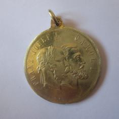 Rara! Medalia Franz Josef si Carol I:In amintirea visitei imparatului sept.1896