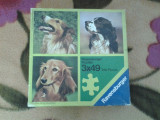 Ravensburger Dogs Puzzle copii 3 x 49 piese, Disney