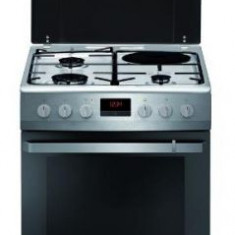 Aragaz Hansa FCMX68209, 3 arzatoare, Plita electrica, Grill, Rotisor, Timer, Clasa A (Inox)