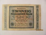 CY 20000000000 20 miliarde marci mark 01.10.1923 Reichsbanknote Germania unifata