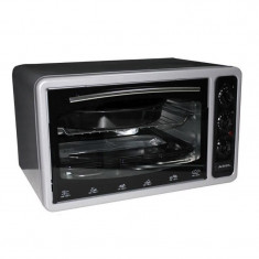 Cuptor electric Asel, 1300 W, 40 l, 320 grade, timer, termostat, Gri