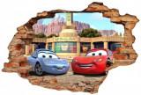 Cumpara ieftin Sticker Wall Crack Cars 4 - 120 x 80 cm