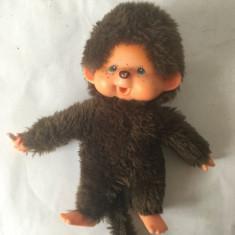 Monchhichi Sekiguchi 1974, maimutica maimuta jucarie plus 19 cm, vintage