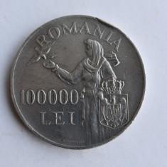 100000 Lei 1946 - Mihai I - Moneda Argint Romania
