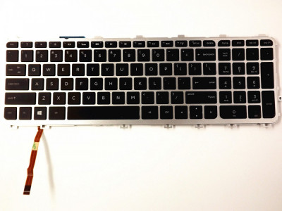 Tastatura HP Envy 17-J iluminata cu rama layout US foto