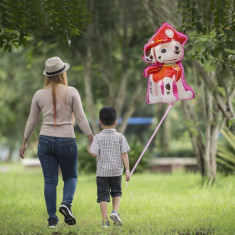 Balon folie Marshall Paw Patrol, figurina gigant 70x30 cm, umflare aer si heliu