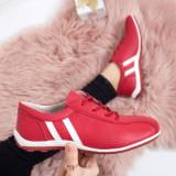 Pantofi Piele Cadiro rosii -rl