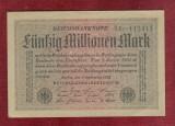 Bancnota Germania  -  REICHSBANKNOTE   - 50.000.000 MARK  1923 - stare F Buna