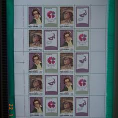 1996  Romania LP - 1407b  Personalitati feminine** Coala ( LP = 200,00 lei )., Nestampilat