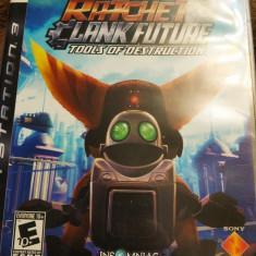 Joc Ratchet and Clank Tools of Destruction, PS3, original, alte sute de jocuri!, Actiune, 12+, Single player, Sony