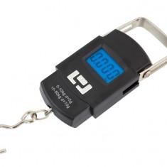 Cantar digital de mana portabil sarcina maxima 50kg pentru pescuit sau bagaje, cu senzor de temperatura exterior
