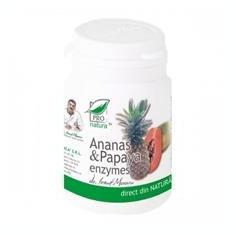 Ananas si Papaya Enzymes 60cps Medica Cod: medi01062
