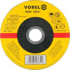 Disc abraziv pentru debitat metale 125x1x22 mm VOREL