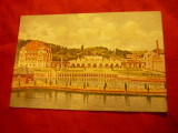 Ilustrata Ocna Sibiului -Pictura- Hotel ,Casinou , Stabiliment Bai , Ed.Marvan