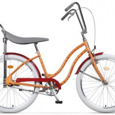 Bicicleta Pegas Strada 1 OTEL 2S, Cadru 17inch, Roti 26inch, 2 Viteze (Portocaliu)