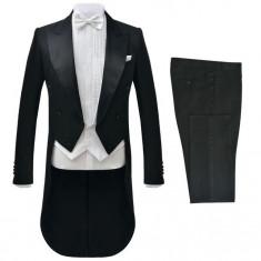 Costum bărbătesc de seară frac, 2 piese, mărimea 56, negru