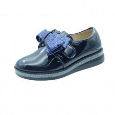 Pantofi eleganti fetite MRS R1625B, Bleumarin