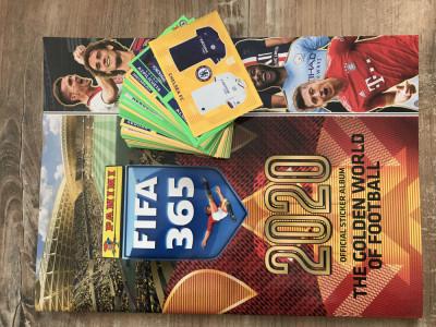 Panini FIFA 365 2020 Album gol + 100 stickere nelipite foto