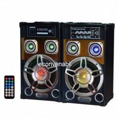 Boxe Active Audio cu Bluetooth, Radio FM si USB 60W Ailiang UF801ADT