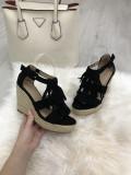 Sandale dama negre cu franjuri  marime  40, 41+CADOU