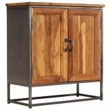 Servantă, lemn de tec reciclat și oțel 65x30x70 cm