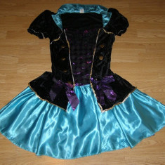 costum carnaval serbare rochie medievala clovnita pentru adulti marime M