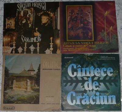 4 discuri vinil Craciun,Christmas cu Stefan Hrusca,Madrigal toate 150 lei foto