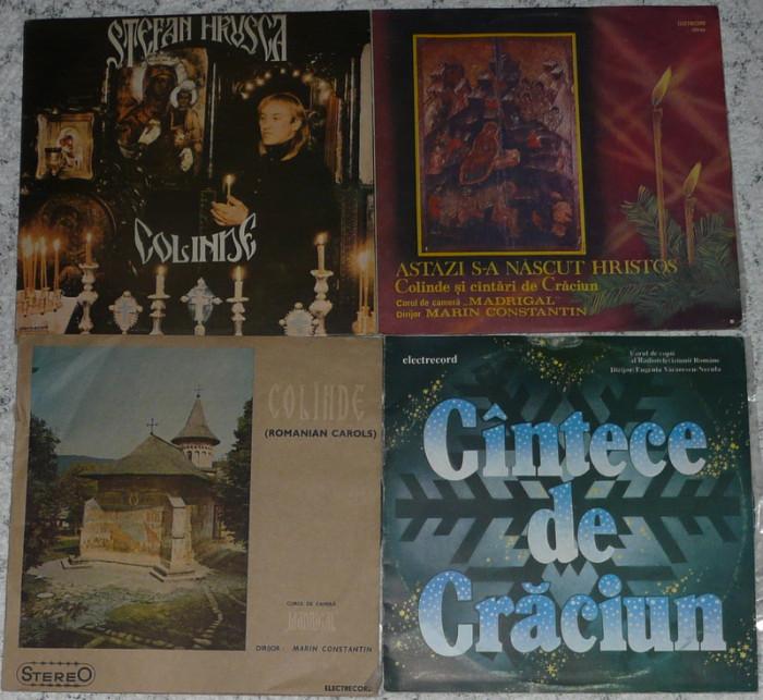 4 discuri vinil Craciun,Christmas cu Stefan Hrusca,Madrigal toate 150 lei