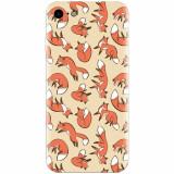 Husa silicon pentru Apple Iphone 8, Red Foxes