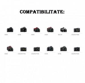 Set 2 acumulatori EN-EL14 + incarcator dublu Nikon D3100 D3200 D5100 D5300 D5500