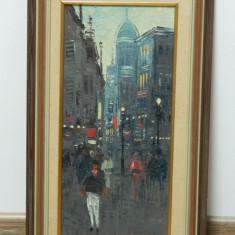 Tablou / pictura ulei panza de Sven Sinde / semnat / inramat, Abstract, Impresionism