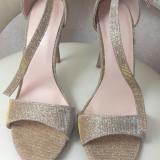 Sandale damă, 37, Auriu