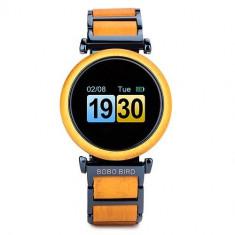 Smartwatch din lemn Bobo Bird, R27 galben Wooden Lux