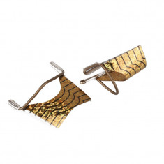 Set 5 sabloane refolosibile pentru unghii SR01-GD, auriu