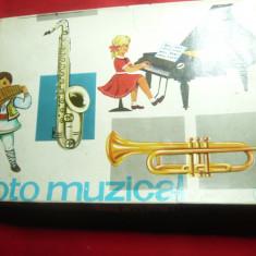 Joc pt Copii -Loto Muzical Romania cca.1980 ,Instructiuni  ,Planse ,Jetoane