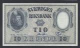 A5161 Sweden Suedia 10 kronor 1958 SEMNATURI DIFERITE aUNC