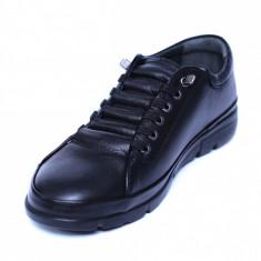 Pantofi dama din piele naturala, Snk, Goretti, Negru, 36 EU