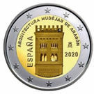 Spania 2 Euro 2020 - Architecture Aragon , 25.75 mm, CLT4 , KM-New UNC !!!, Europa
