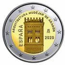 Spania 2 Euro 2020 - Architecture Aragon , 25.75 mm, CLT4 , KM-New UNC !!!, Europa
