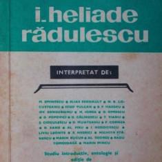 I . HELIADE RADULESCU - M . EMINESCU , ELIAS REGNAULT