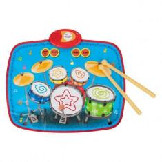 Instrument muzical interactiv de jucarie, model tobe cu bete, multicolor, 55×43 cm