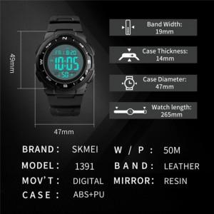 Ceas Barbatesc SKMEI CS904, curea silicon, digital watch, Functii- alarma, ora, data, cadran luminat, rezistent 3ATM