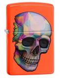 Cumpara ieftin Brichetă Zippo 29402 Skull Neon Orange Finish