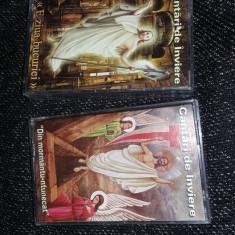 Lot 2 Casete audio Originale Bisericesti Ortodoxe CANTARI DE INVIERE,T,GRATUIT