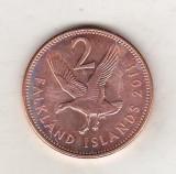 bnk mnd Falkland Islands 2 pence 2011 unc , fauna