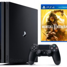 Consola SONY PlayStation 4 PRO (PS4 PRO) 1TB, negru + Mortal Kombat 11