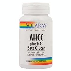 AHCC plus Nac & Beta Glucan Solaray Secom 30cps Cod: 20217