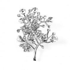 Brosa argintie Impress